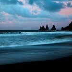 Reynisdrangar taken from Black Sand Beach in Vik