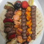 Ground Beef Kabob, Chicken Kabob, Salmon Kabob and Shish Kabob