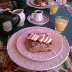 Stuffed French Toast for Breakfast. More than we could eat!