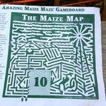 Rural Hill 2013 Amazing Maize Maze almost complete map