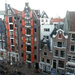 View from room onto Spuistraat