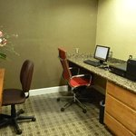 business center with pc, printer, fax