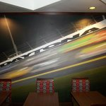 Speedway mural:  Walk to the track!