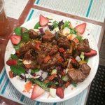 This was the best salad with filet minon and fresh berrys