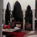Moroccan decor of the the grounds