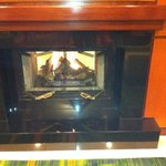 Fireplace in the lobby (part of the decour)