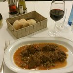 A kind of Catalan calf stew - The second course of the dinner menu