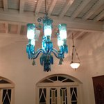 Chandelier in room