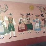 Bavarian inspired mural at Hofsas House Hotel