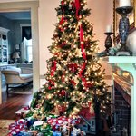 Christmas tree in the parlor