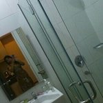 ..clean bathroom with hot and cold shower.