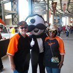 outside the Natty Boh Bar with Mr Natty Boh