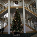 Front lobby at Christmas