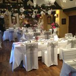 Restaurant set up for Wedding Breakfast