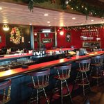 The bar decorated during the holiday season 2013