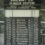 Railroad schedule board