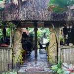 Thatched roof dinning room