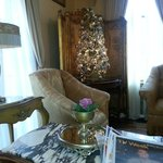 Front parlor downstairs perfect for reading morning newspaper