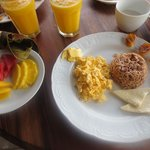 One of the yummy breakfasts