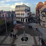 Place Foch from Room #5 balcony / Place Foch vue du balcon de la chambre 5.
