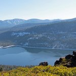 Hiking the ridge to see Lake Donner