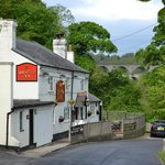 The Bridge Inn with the aqueduct in the background