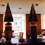 breakfast room at Xmas time