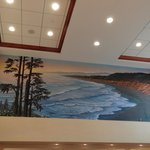 Gorgeous mural in the lobby of the coastline