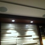 Double speakers on the ceiling above the king bed - incredible stereo sound