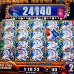 Full house winning on 50-cent bet of Mystical Unicorns slot machine