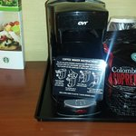 Coffee machine in room