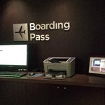 Print out boarding pass in lobby