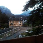 view from the balcony (cedar and mountains)