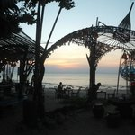 beachbar at khlong khong during sunset