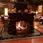 Antique 4 sided fireplace