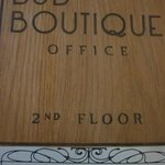 B&B Boutique plaque