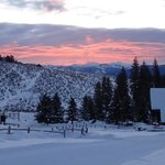 Sunrise over Lone Mountain Ranch