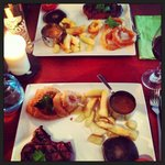 Steak night - looks are deceiving. Chips were hard, onion rings greasy and tasteless - steak was