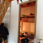the second bedroom with bunks.