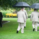 My ushers  walking the beautiful grounds