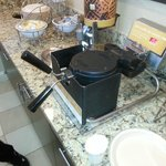Waffle maker at Breakfast