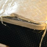 Sofa bed mattress was ripped and losing its stuffing (and being thin it didn't have much to lose
