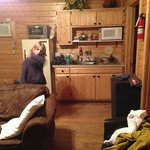 LIving room of Cabin 15 - kitchen