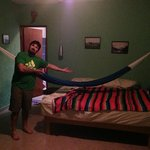 Our room with personal hammock.
