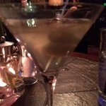 My Myer Farms Ginger Vodka Dirty Martini with Blue Cheese Stuffed Olives
