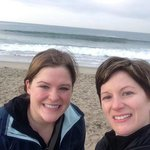 Katey and Jen at Santa Monica Beach across from the hotel!