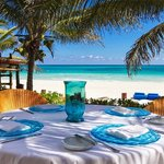A private table on the best beach in the world