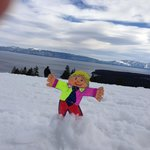 Flat Stanley at the Blue Chair Bar