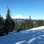 Mt. Ranier in background as seen while skiing