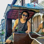 We rent a Kalesa to get around Vigan for a day